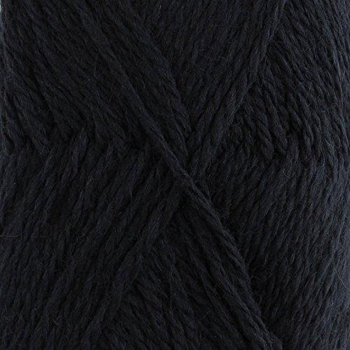 (Wool Yarn Worsted Weight - Snow Blossom Yarn - JubileeYarn - Black - 2 Skeins)