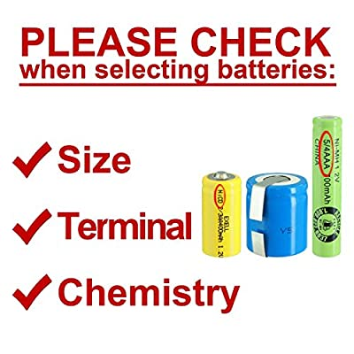 Exell 2/3AA Size Rechargeable Battery 600mAh NiMH 1.2V Button Top Cell USA SHIP