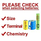 5x Exell A Size 1.2V 1400mAh NiCD Rechargeable