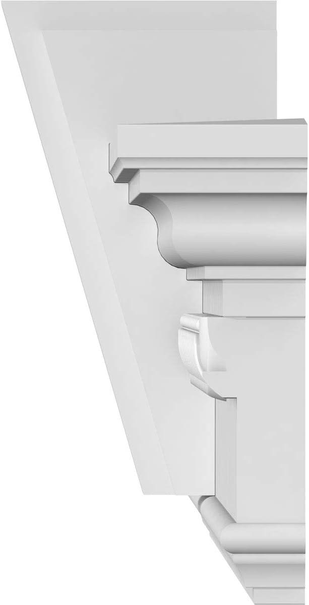 Factory Primed White 31 Bottom Width x 34 7//8 Top Width Ekena Millwork CRH07X31KA-EG Crosshead