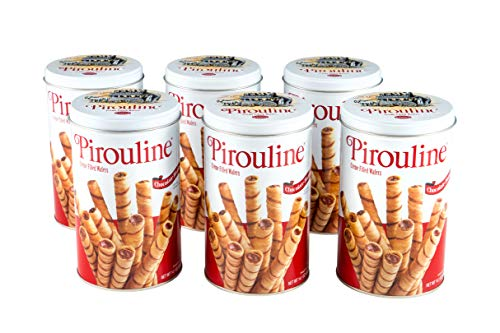 Creme Filled Chocolate Cookies - Pirouline Rolled Wafers, Chocolate Hazelnut, 14.1 Ounce, Pack of 6