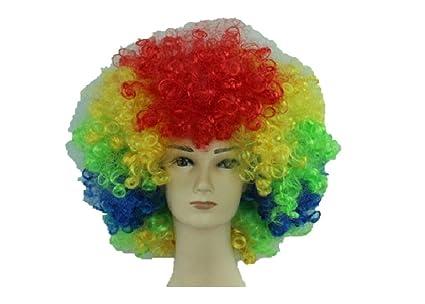 Peluca de payaso Circo Unisexo Divertido accesorio de fiesta de lujo accesorio Afro Stag Do Fun