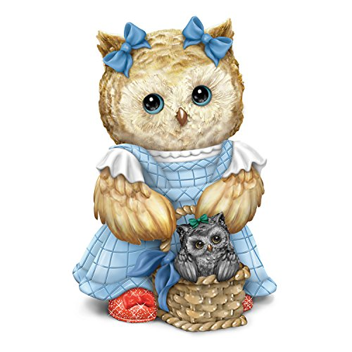 Hamilton Collection Wizard (The Wizard Of Oz Dorothy And Toto Owl Figurine With Basket And Ruby Slippers by The Hamilton Collection)