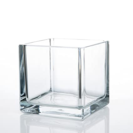 Amazon Richland Square Glass Cube Vase 5 Home Kitchen