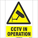 SignageShop WS-11833 High quality CCTV in Operation Sign
