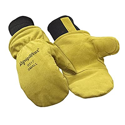 RefrigiWear Fleece Lined Insulated Leather Mitt Glove