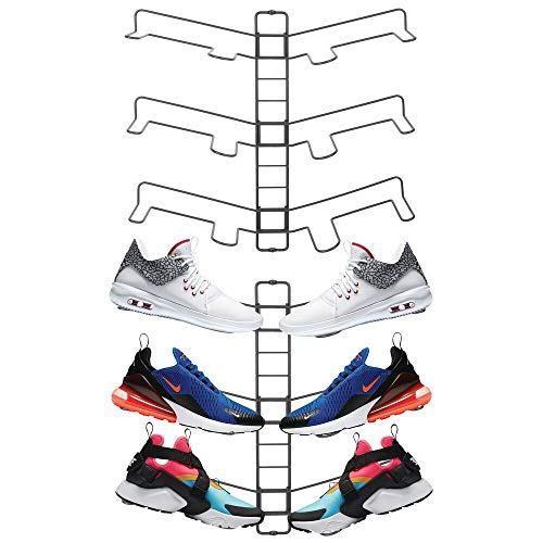 mDesign Modern Metal Shoe Organizer Display & Storage, used for sale  Delivered anywhere in USA
