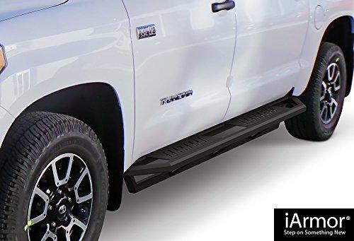 Steps Armor Custom Fit 2007-2018 Toyota Tundra CrewMax Pickup 4-Door (Nerf Bars | Side Steps | Side Bars) ()