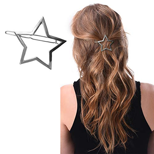 (Joyci 1Pcs Exquisite Women's Hair Pin Simple Style Star Ponytail Hair Clip (Silver))