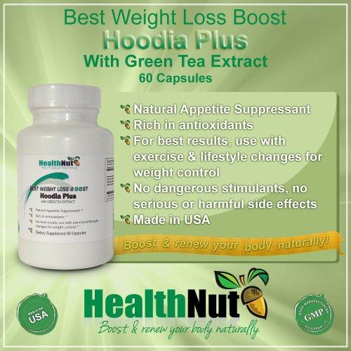 Meilleur Idée de cadeau de Noël bas de Noël Hoodia Plus avec extrait de thé vert pour 2014 meilleure perte de poids Boost supplément naturel par HealthNut meilleur coupe-faim naturel