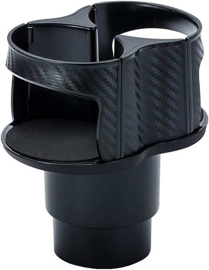 Multifunktionaler Auto Getr/änkehalter Expander Universal Water Cup Drink Holder 2 In 1 Vehicle-Mounted Auto-Getr/änkehalter Aus Kohlefaser 360/°Rotating Adjustable Dual Bottles Base Organizer