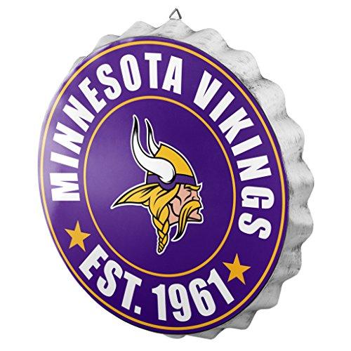 Minnesota Vikings Cap (FOCO Minnesota Vikings 2016 Bottle Cap Wall Sign)