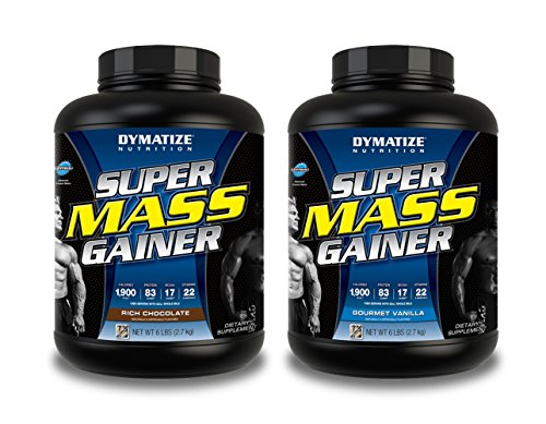 Dymatize Nutrition Mass Gainer Chocolate 6 lbs/Gourmet Vanilla 6 lbs
