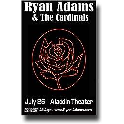 Ryan Adams & The Cardinals Poster - 11 x 17 Concert Promo on the Jacksonville City Nights Tour --BlkRose