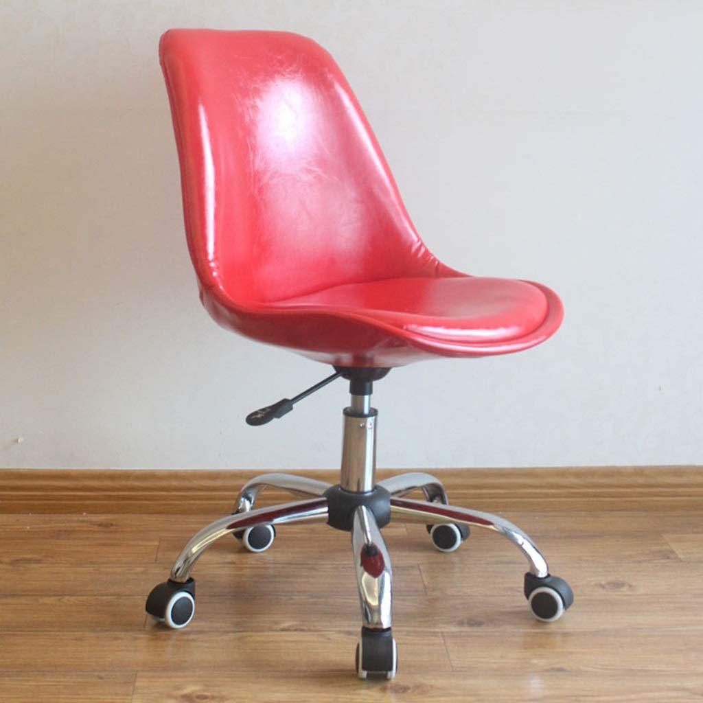 Zhou-WD barstol, bekväm lätt att rengöra stol hem stol dekorativ stol sovrum stol vardagsrum stol student stol kontor möbler (färg: Röd) Röd