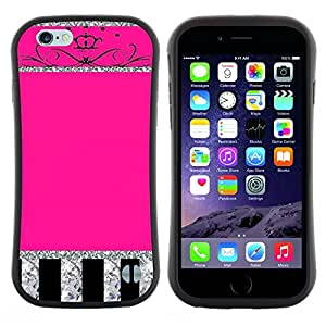 "Hypernova Slim Fit Dual Barniz Protector Caso Case Funda Para Apple (5.5 inches!!!) iPhone 6 Plus / 6S Plus ( 5.5 ) [Glitter Pink Silver Crown Espumoso""]"
