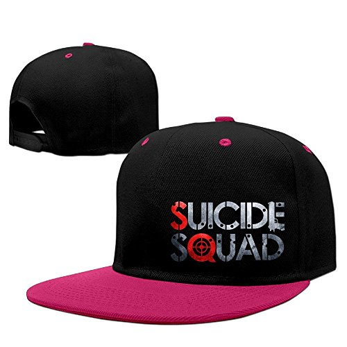 [Custom Unisex Suicide S Squad Horror Movie Logo Snapback Hiphop Caps Pink] (Brad Pitt Costume Ideas)