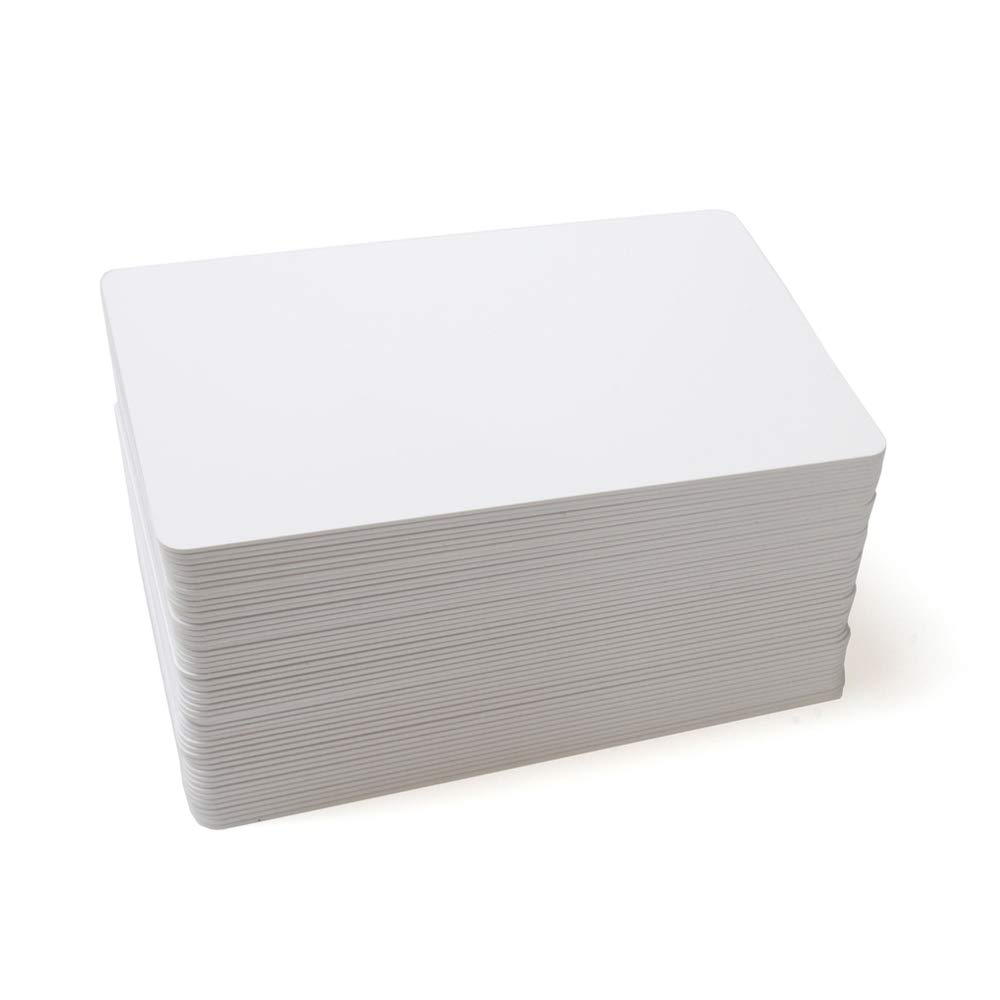 THONSEN CR80 13.56MHz MIFARE Classic 1K Blank White RFID PVC Card Printable Double Sides ISO14443A (Pack of 100)