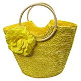 Women's Summer Beach Straw Ring Shaped Handle Shopping - Best Reviews Guide