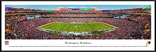 Washington Redskins - 50 Yard - Day  - Blakeway Panoramas NFL Posters with Standard Frame (Field Washington Usa Framed)