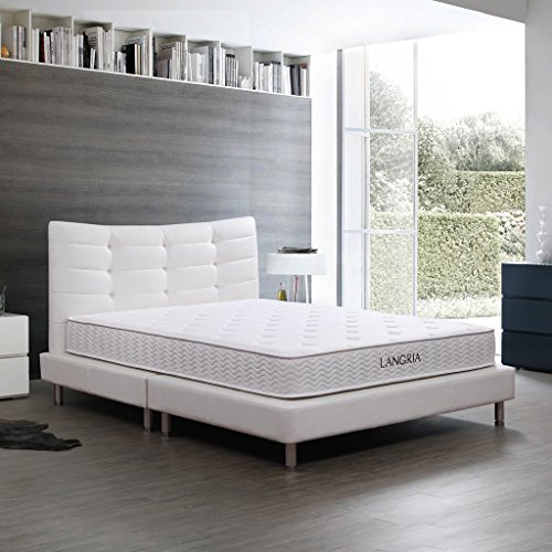 LANGRIA 8-Inch Innerspring Mattress with Soft F...