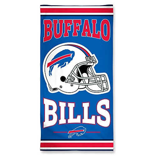 Wincraft NFL Buffalo Bills Fiber Beach Towel, 9lb/30 x 60