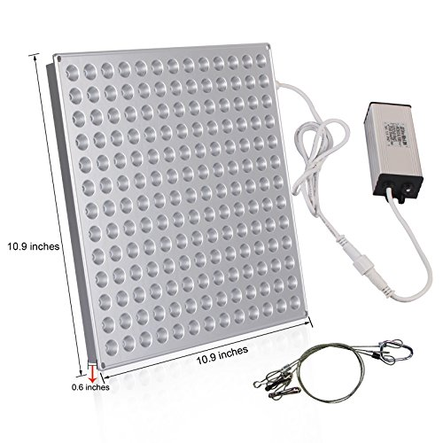 51rUSBPTMlL - LED Grow Light Panel 45W, Reflector LED Plant Growing Light with Red Blue Bulbs Spectrum for Indoor Plants Veg Seedling Growing and Flowering by Lightimetunnel