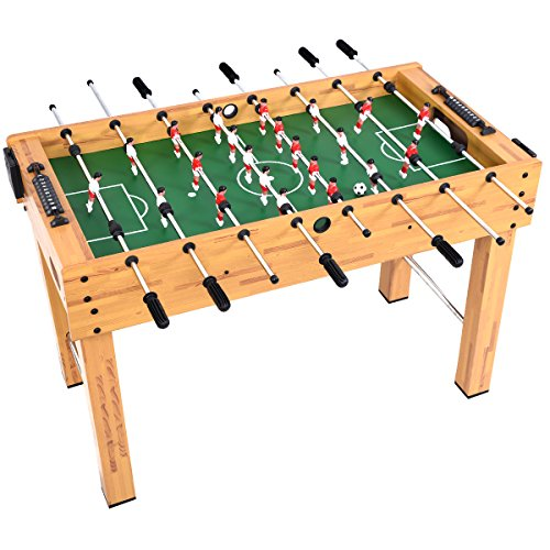 """Table Action Foosball Soccer (GYMAX 48"""" Foosball Table, Indoor Competition Soccer Game Table for Adults Kids Game Room)"""