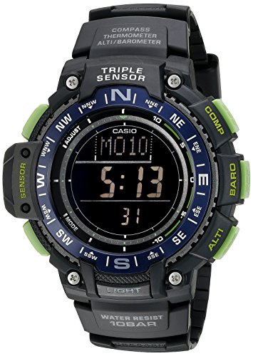 Casio Men's SGW-1000-2BCF Triple Sensor Digital Display Quartz Black Watch
