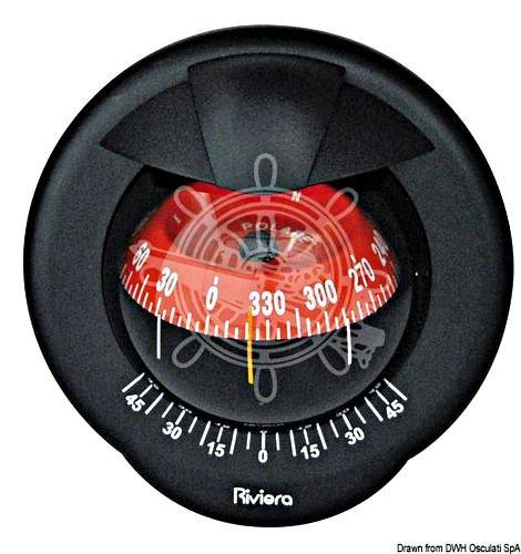 Osculati Riviera Pegasusボートマリンコンパス4 100 mmブラック/レッドwithカバー   B01DPVPFGO