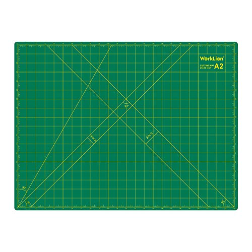 WORKLION 18'' x 24'' Large Self Healing PVC Cutting Mat, Double Sided, Gridded Rotary Cutting Board for Craft, Fabric, Quilting, Sewing, Scrapbooking - Art Project ()