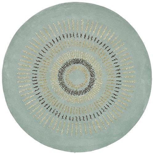 Safavieh Soho Collection SOH719C Handmade Light Blue and Multi Premium Wool Round Area Rug (4' Diameter) ()
