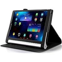 Lenovo Yoga Tab 3 Plus 10.1 / Lenovo Yoga Tab 3 Pro 10.1 Funda Case, IVSO Slim Smart Cover Funda Protectora de Cuero PU para Lenovo Yoga Tab 3 Plus 10.1 / Lenovo Yoga Tab 3 Pro 10.1 Tablet (Negro)