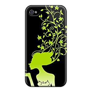 Iphone 4/4s Cover Case - Eco-friendly Packaging(leaf Beauty)