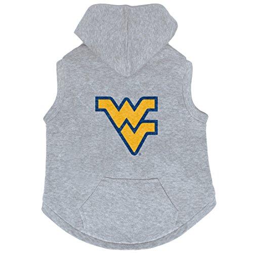 (NCAA West Virginia Mountaineers Pet Hooded Crewneck, XL)