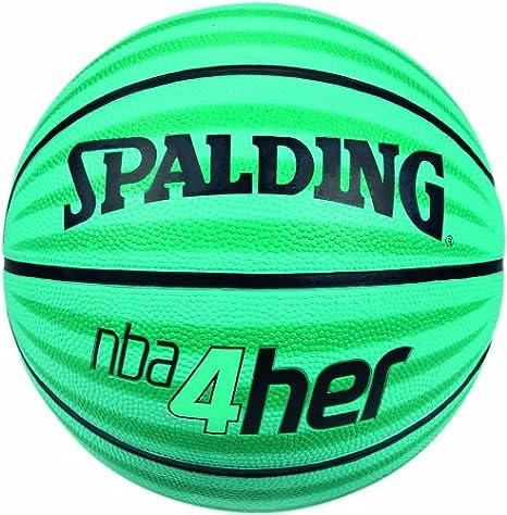 Spalding NBA 4Her 11 73-805Z - Pelota de Baloncesto (Mujer, Cuero ...