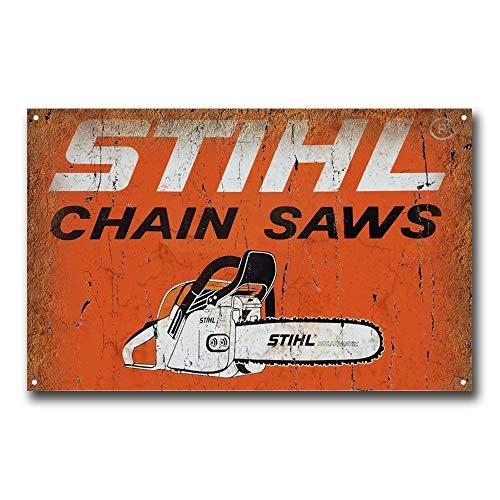 (Stihl Chain Saws Vintage Retro Tin Sign Metal Sign TIN Sign 7.8X11.8 INCH)