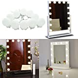 Hollywood Super Star Style Makeup Mirror Vanity LED Light Bulbs Kit for Dressing Table with Dimmer and Power Supply Plug in, Linkable and Flexible Strip, Mirror Not Included (10 Bulbs Cool white)