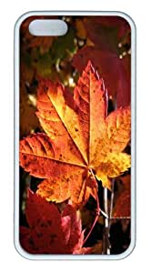 iPhone 5S Customized Unique Landscape Flowers Morning Leaf New Fashion TPU White iPhone 5/5S Cases