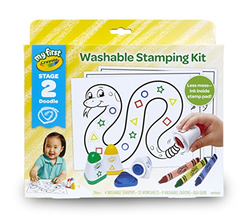 Crayola My First Washable Stamps and Crayons, Activity Set, Gift by Crayola