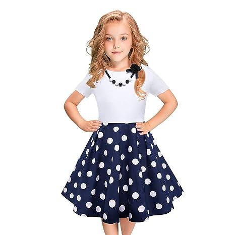 MRULIC - Vestido de niña con tacón Negro para niños y niñas Azul 2 ...