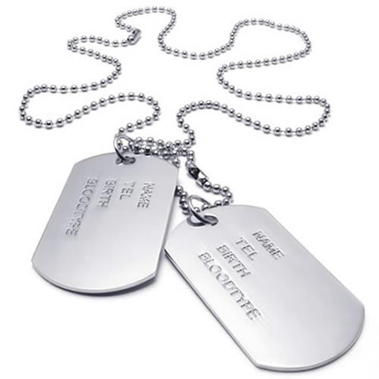 Pendentif plaque militaire femme