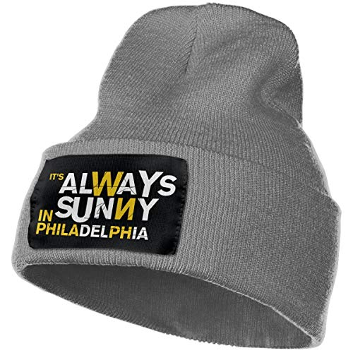 SmallHan Mens & Womens It's Always Sunny In Philadelphia Season Skull Beanie Hats Winter Knitted Caps Soft Warm Ski Hat Deep Heather