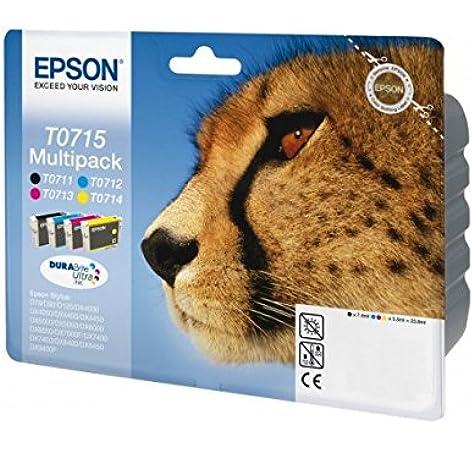 Epson C13T07154022 - Cartucho de tinta, multi-pack (negro, amarillo, magenta, cian): Epson: Amazon.es: Oficina y papelería