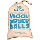 Wool Dryer Balls– 6 Pack XL | 100% Wool | Best Anti-static Alternative to Dryer Sheets to Naturally Soften Fabric, Clothes & Laundry