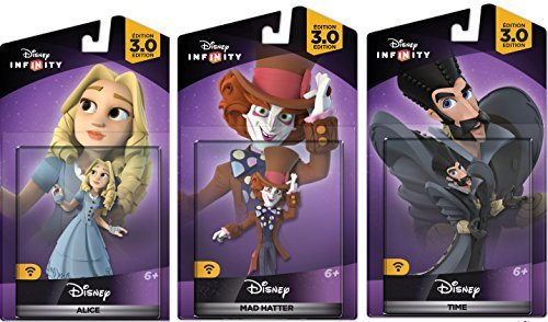 Disney Infinity 3.0 Alice In Wonderland Themed Bundle Alice Mad Hatter Time Figures -