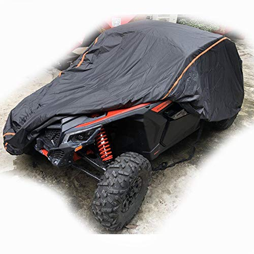 UTV Cover for 2015 2016 2017 2018 2019 Can Am Maverick X3 X RS DS with Relective Strip to Protect Your SxS Vehicle from Rain, Snow, Dirt, Debris and Damaging UV Rays