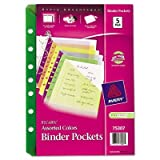 Small Polypropylene Binder Pocket (5 Pack) [Set of 3]
