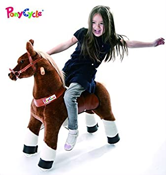 Amazon Smart Gear Pony Cycle Chocolate Light Brown Or Horse Riding Toy 2 Sizes Worlds First Simulated For Kids Age 4 9 Years