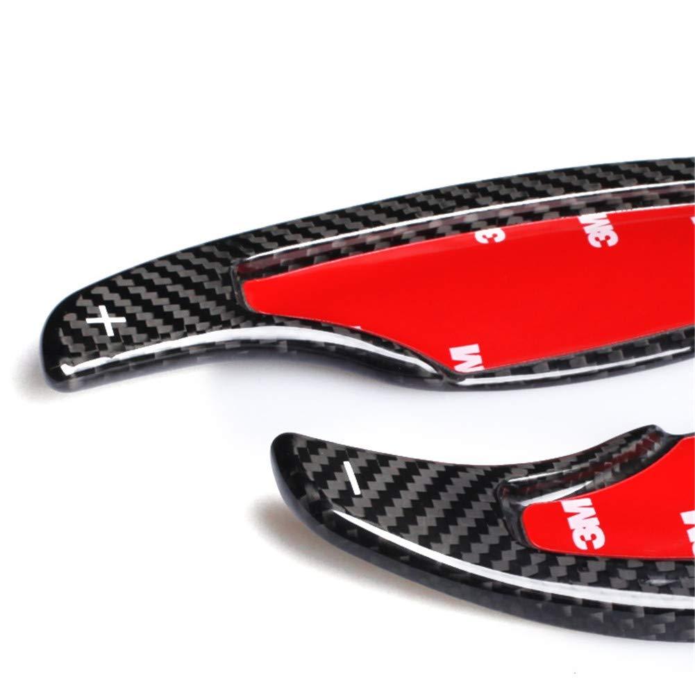 T-carbon Black Topsmart Carbon Fiber Car Steering Wheel Shift Blade Paddle Shifter Extension For Cadillac